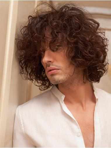 Wholesome Auburn Curly Men Wigs
