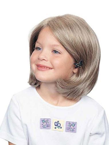 Fashionable Wavy Chin Length Kids Wigs
