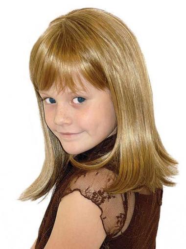 Fabulous Blonde Straight Shoulder Length Kids Wigs