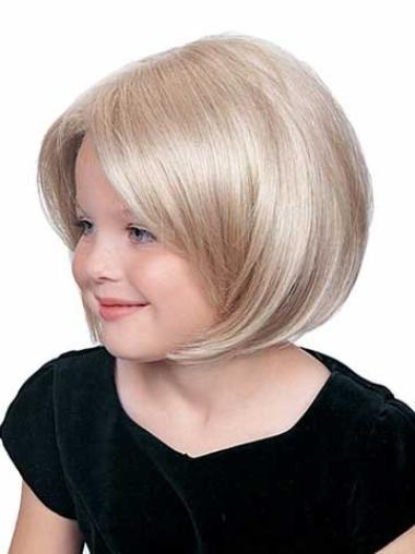 Lace Front Blonde Straight Fashion Kids Wigs