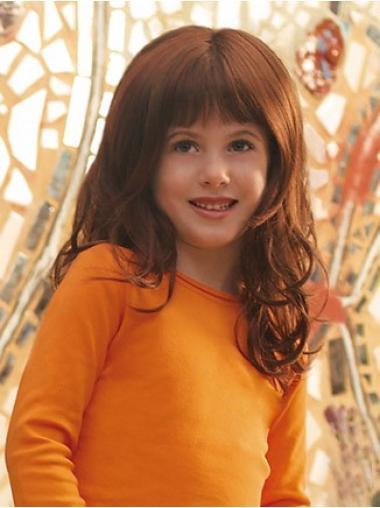 Lace Front Auburn Curly Graceful Kids Wigs
