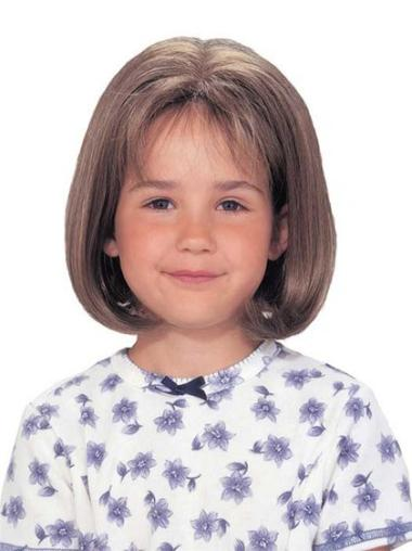 Lace Front Brown Straight Ideal Kids Wigs