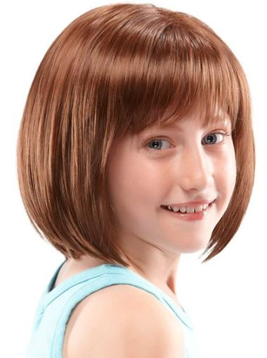 Lace Front Auburn Straight Preferential Kids Wigs