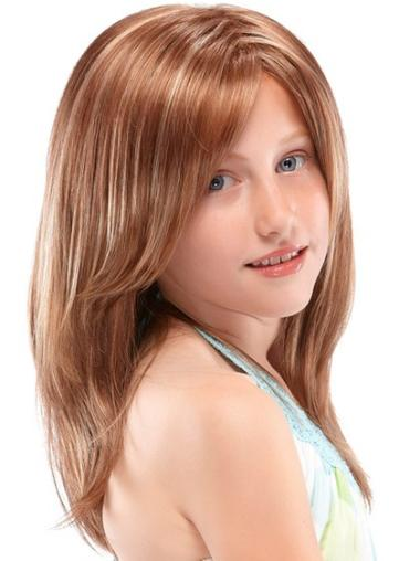 Designed Auburn Straight Long Kids Wigs