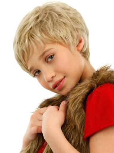 Lace Front Blonde Wavy Affordable Kids Wigs