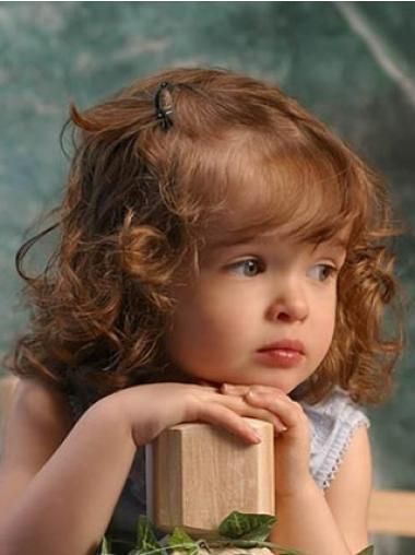 Lace Front Auburn Curly Refined Kids Wigs