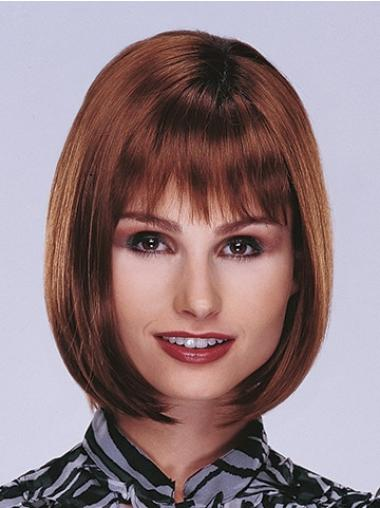 Monofilament Auburn Straight Exquisite Lace Front Wigs