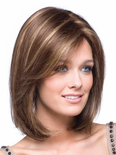 Lace Front Brown Straight Good Petite Wigs