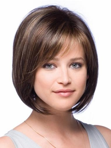 Lace Front Brown Straight Exquisite Petite Wigs