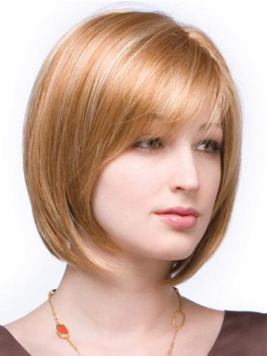 Lace Front Auburn Straight Nice Medium Wigs