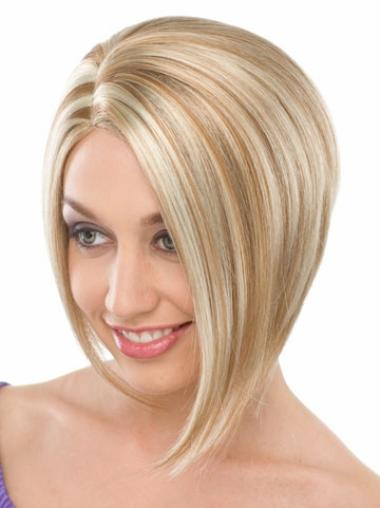 New Blonde Straight Chin Length Bob Wigs