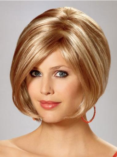 Perfect Blonde Straight Chin Length Bob Wigs