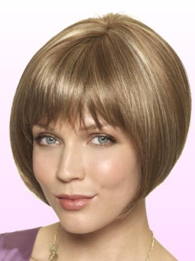 Lace Front Blonde Straight Suitable Short Wigs