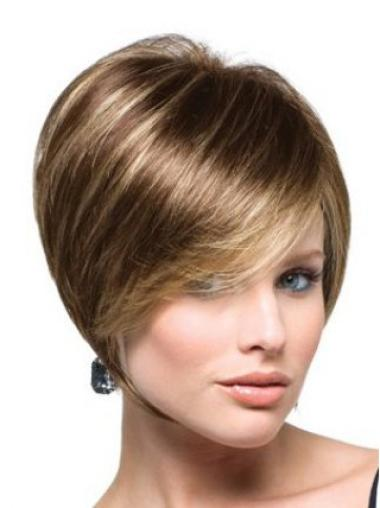 Cool Brown Straight Short Bob Wigs