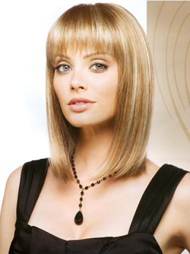 Monofilament Blonde Straight Gorgeous Lace Wigs