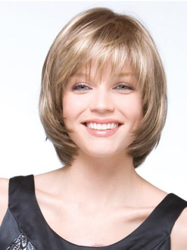 Beautiful Blonde Straight Chin Length Bob Wigs