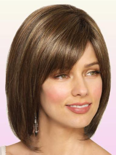 Monofilament Brown Straight Trendy Lace Wigs