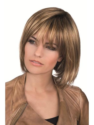 Brown Bobs Straight Flexibility Lace Wigs
