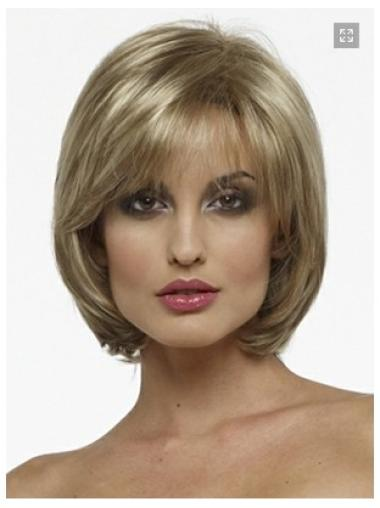 High Quality Blonde Straight Chin Length Bob Wigs