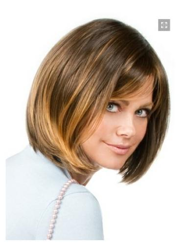 Nice Blonde Chin Straight Length Bob Wigs
