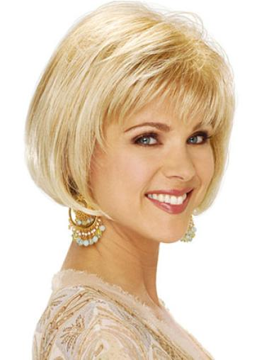 Faddish Blonde Straight Short Classic Wigs