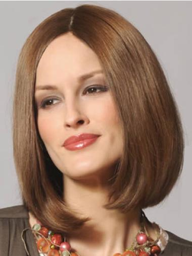 Lace Front Brown Straight High Quality Remy Human Lace Wigs