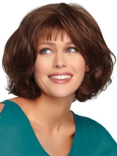 Monofilament Auburn Wavy Exquisite Wigs