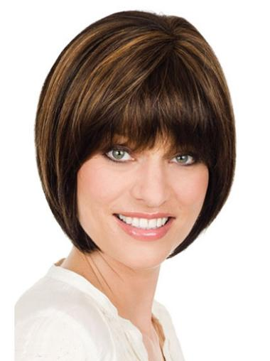 Monofilament Brown Straight Radiant Lace Wigs