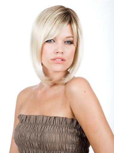 Monofilament Blonde Straight Beautiful Wigs