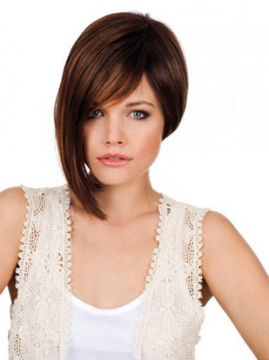 Monofilament Auburn Straight Impressive Lace Wigs