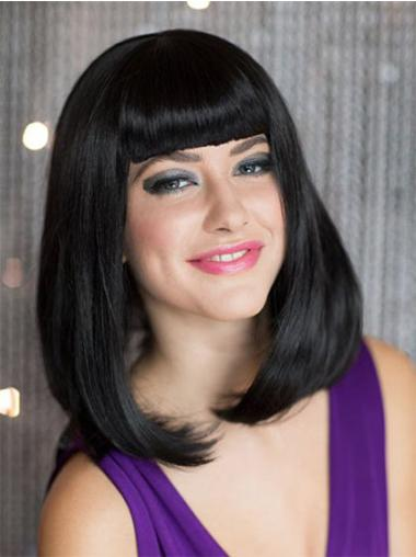 Hairstyles Black Straight Shoulder Length Bob Wigs