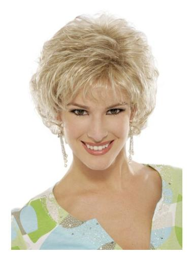 Tempting Blonde Curly Short Classic Wigs