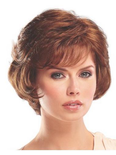 Popular Auburn Wavy Short Classic Wigs