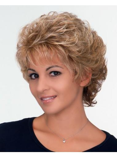 Wholesome Blonde Curly Short Classic Wigs