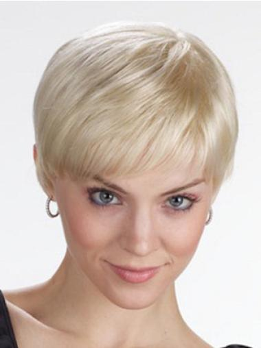 Lace Front Blonde Straight Elegant Short Wigs