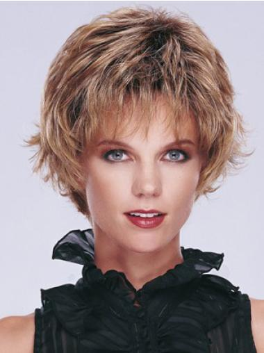 Hairstyles Blonde Synthetic Wavy Short Wigs