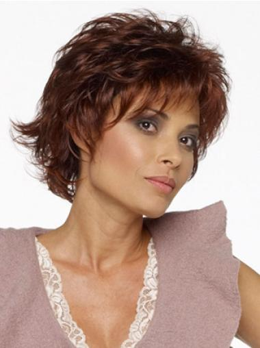 Trendy Synthetic Wavy Layered Short Wigs