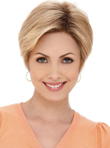 Monofilament Blonde Straight Tempting Petite Wigs