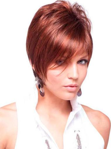 Natural Red Straight Short Wigs