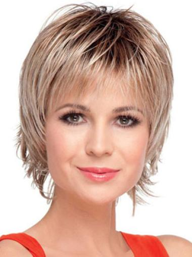 Cheap Blonde Synthetic Straight Short Wigs