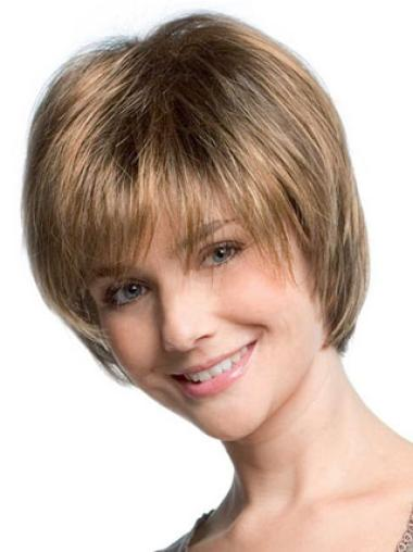 Traditiona Blonde Synthetic Straight Short Wigs