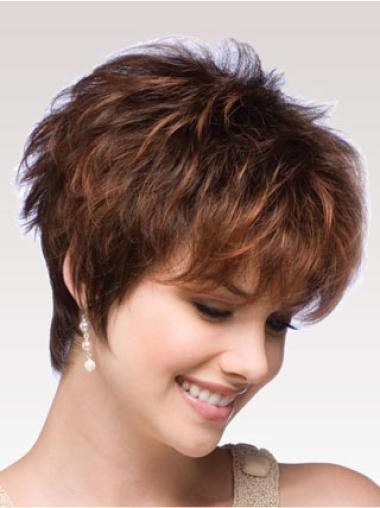 High Quality Synthetic Wavy Boycuts Short Wigs