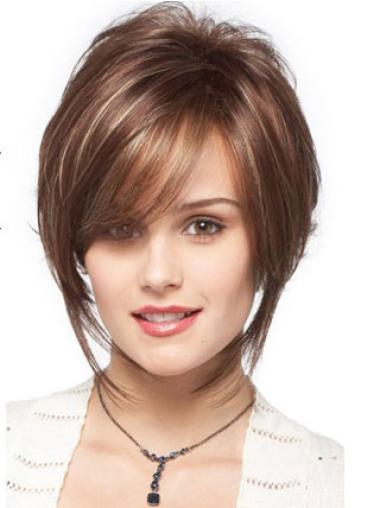 Flexibility Brown Synthetic Wavy Short Wigs