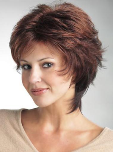 Monofilament Auburn Straight Trendy Classic Wigs
