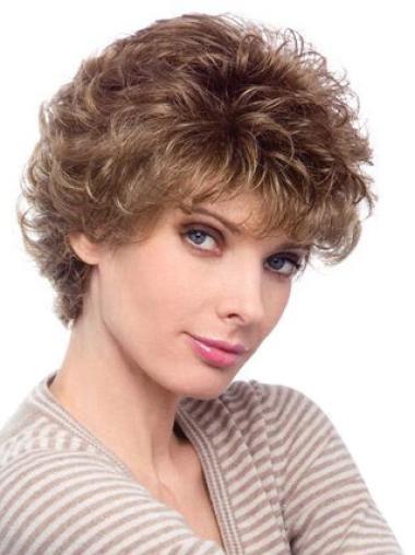 Top Auburn Curly Short Classic Wigs