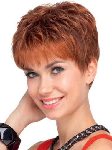 Lace Front Red Wavy Great Human Hair Lace Front Wigs