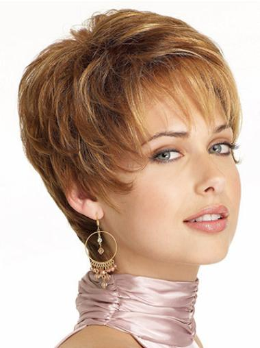 Lace Front Brown Wavy Incredible Short Wigs