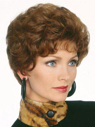 Tempting Brown Wavy Short Classic Wigs