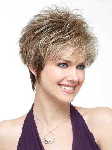 Hairstyles Blonde Synthetic Straight Short Wigs
