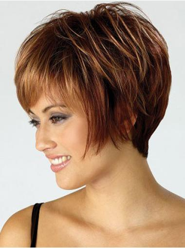 Braw Auburn Straight Short Wigs